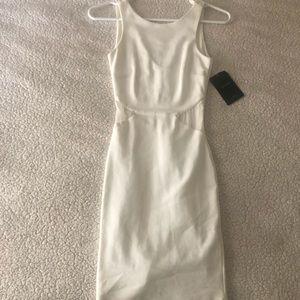 Zara White Bodycon Midi Dress